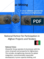 Value Addition local partner in Afg mining sector