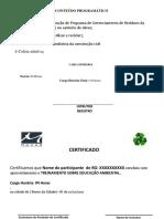 Modelo de Certificado Meio Ambiente Denis