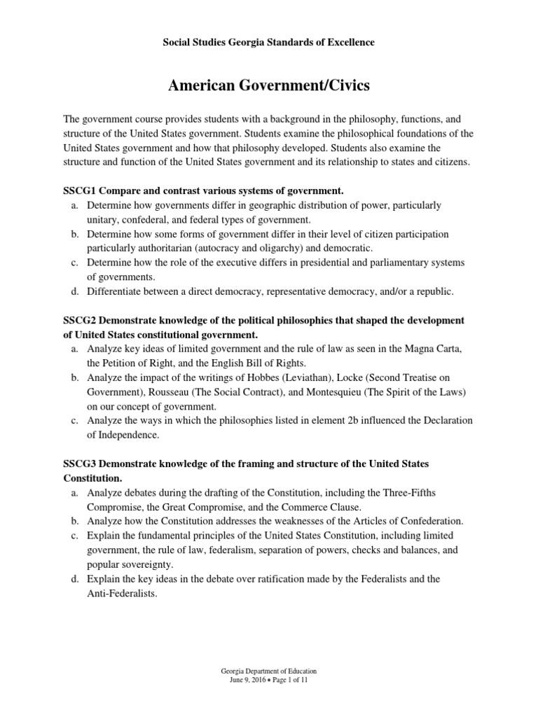 american-government-civics-standards | United States Constitution ...