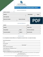 A.2.3 Formulario Proyecto Inmobiliario FIPAV