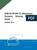 GERAN UR15 ZGB-03!03!004 TC Resources Dynamic Sharing Feature Guide (V4)_V1.0