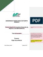 Documento de Apoyo Para La Redaccíon de La Memoria Técnica 2017