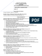 teaching resume 1