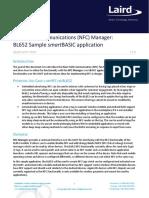 NFC Manager - BL652 Sample SmartBASIC Application