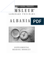 Pimsleur - Albanian - Reading Booklet