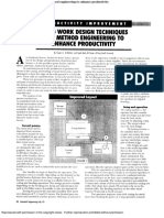 Using Work Design Techniques and Method Engineering to Enhance Productivity