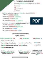 LES DOUBLES PRONOMS+LETTRE DE RÉCLAMATION