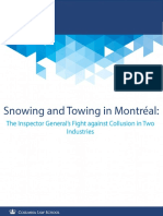 Snowing and Towing in Montréal