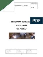 Programa de Trabajo Maestranza La Piruja