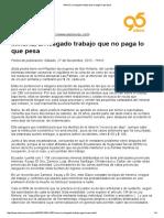 28-11-2010. Minería, Arriesgado Trabajo Que No Paga Lo Que Pesa