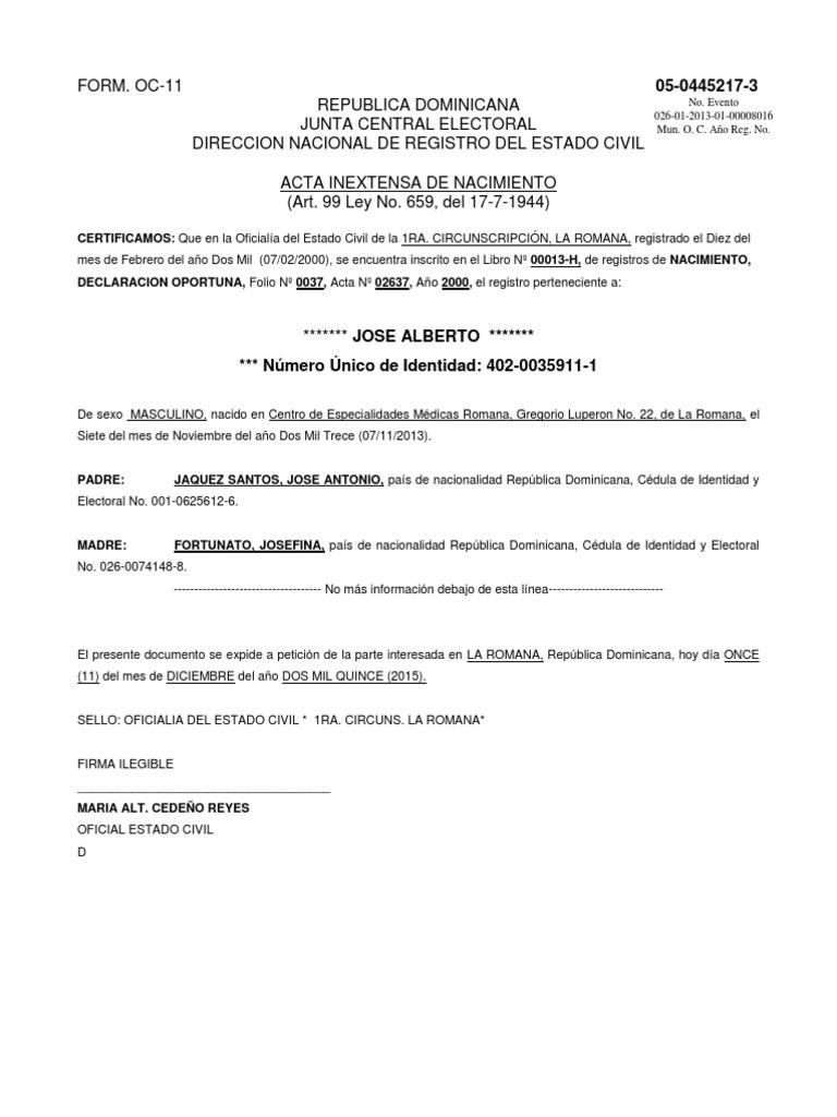 Fantástico Certificado De Nacimiento Grand Rapids Ilustración - Cómo ...