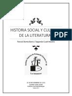 Historia Social y Cultural de La Literatura I