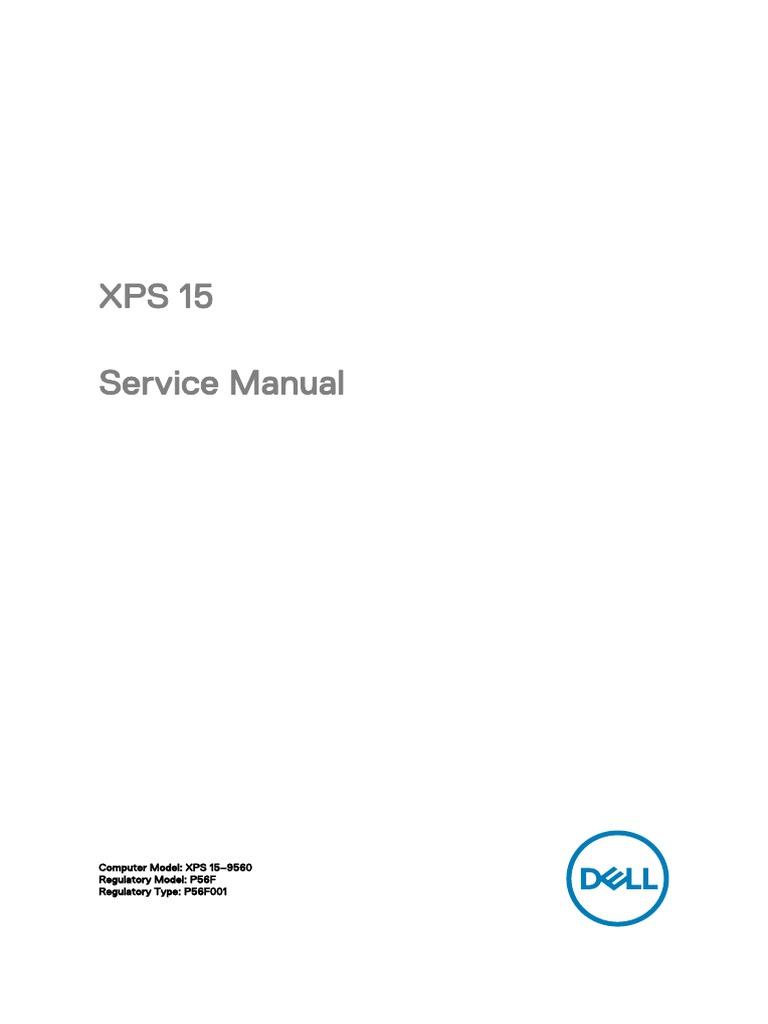 Xps 15 9560 Laptop Setup Guide en Us | Electrical Connector | Bios