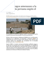 Economía Peruana Según El MEF