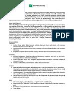 BNP Paribas Due Diligence Job Description (1)