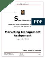 Marketing Management - MB0030