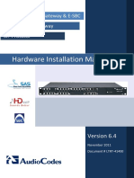 LTRT-41400 Mediant 1000B Gateway and E-SBC Hardware Installation Manual Ver 6 4