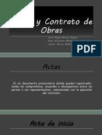 Actas y Contrato de Obras