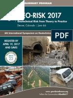 Geo Risk 2017 Preliminary Program