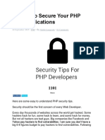 12 Tips to Secure Your PHP Web Applications