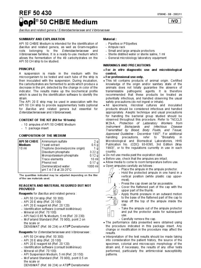 api50 chb e medium growth medium infection rh scribd com API 20E Test API 20E Identification Table