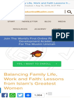 Balancing Family Life, Work and Faith Lessons From Islam's Greatest Women - ProductiveMuslim.com