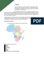 História Recente de África