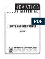 AIEEE Class XI Maths Limits & Derivatives
