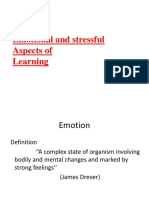 Emotional and Stressful Aspect of Learning