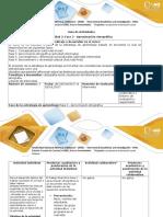 Guía de actividades y rúbrica de evaluación – Fase 2 Aproximación etnográfica