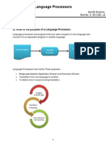 Purpose of Language Processors