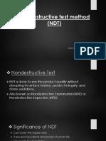 Nondestructive Test Method