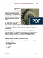 Chief Seattle Letter Writing Assignment