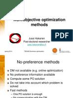 TIES483 Multiobjective Optimization Methods
