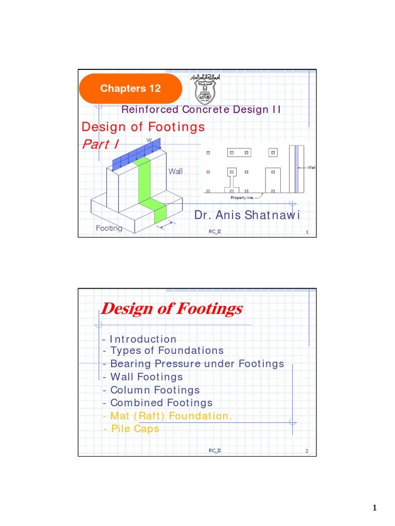 Lecture 15a Wall Footings 2slides pdf | Foundation