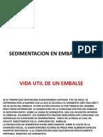 Sedimentacion en Presas