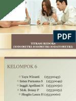 Kelompok 6 ( Titrasi Redoks #Iodometri-iodimetri-iodatometri# )
