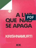 A Luz Que Nc3a3o Se Apaga Krishnamurti1