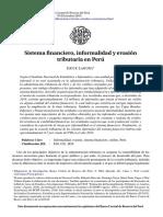 Sistema Financiero e Informalidad