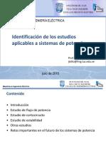 Identificación de Los Estudios Aplicables a Sistemas de Potencia