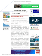Consideraciones Sobre El Mercado Residencial Del Gas LP en México
