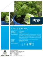 Citrus Sublime FACT SHEET