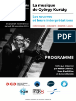 PROGRAMME FLYER du colloque Kurtag - 24-26 novembre 2016 à Paris
