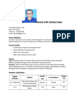 Resume of Md. Rayhanul Haque