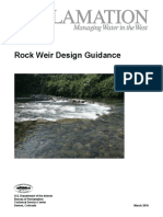 Rock Weir Design Guidance