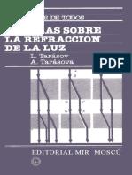 Charlas Sobre Refraccion de La Luz - L Tarasov y Tarasova
