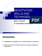 8barryfawcettnegotiating Skills and Techniqes Bf