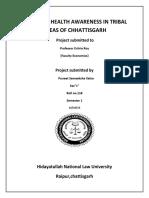Impact of Health Awareness in Tribal Areas of Chhattisgarh