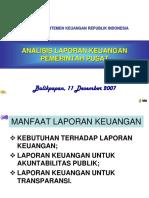 Analisa Laporan Keuangan Pemerintah Pusatjjj
