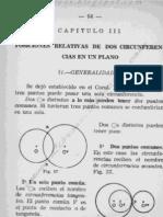Posiciones Relativas de 2 Circunferencias en Un Plano